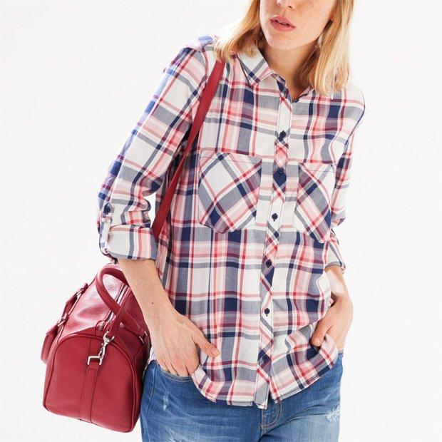 Koszula w kratk� w 4 modnych stylizacjach
