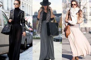 Długie spódnice - idealne na zimę!