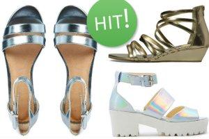 Hit sezonu: metaliczne sandały na upalne dni