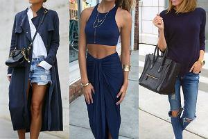 Granatowe ubrania - trzy gotowe stylizacje, którymi się zainspirujecie