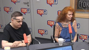 Piotr Gursztyn i Ewa Siedlecka w studiu TOK FM.
