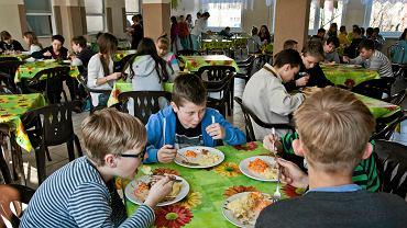 Przerwa obiadowa w Szkole Podstawowej nr 38 w Bydgoszczy
