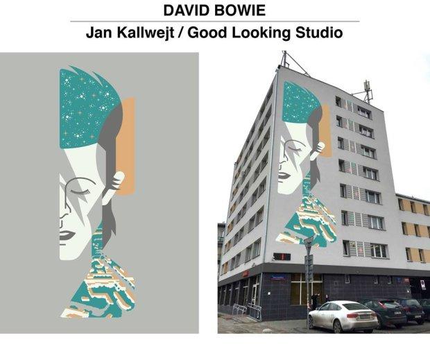 39 mural dla davida bowie 39 na oliborzu w finale dwa for Mural ursynow