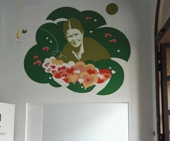 Mural Ireny Sendlerowej na Woli / materiały promocyjne