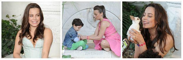Anna Mucha w otoczeniu dzieci i kr�lik�w promuje bransoletki Missiu - zobacz s�odk� sesj�!