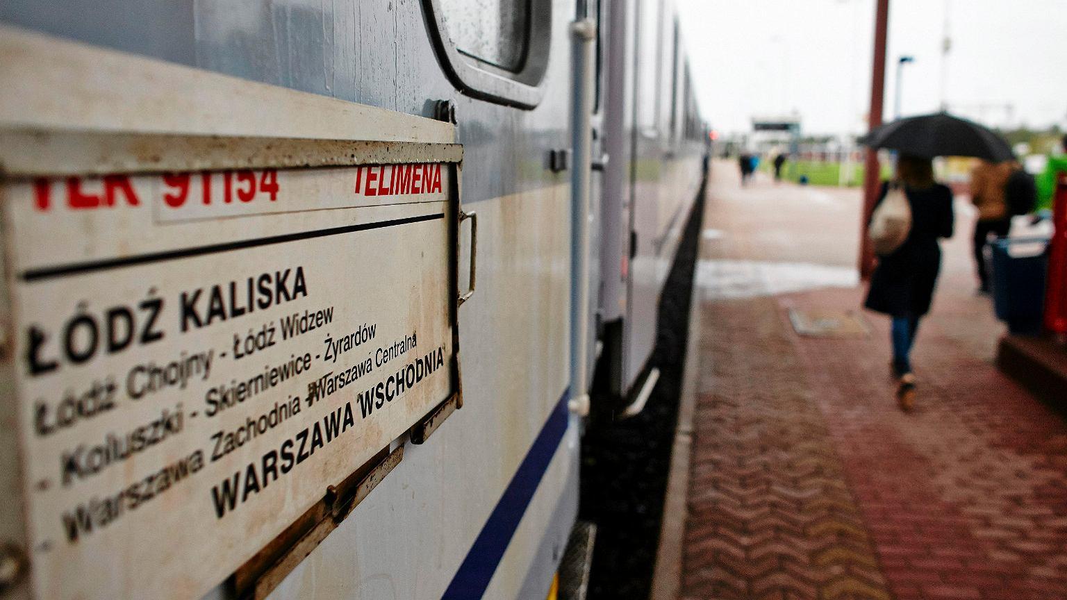 TLK Telimena w trakcie kursu z Łodzi do Warszawy
