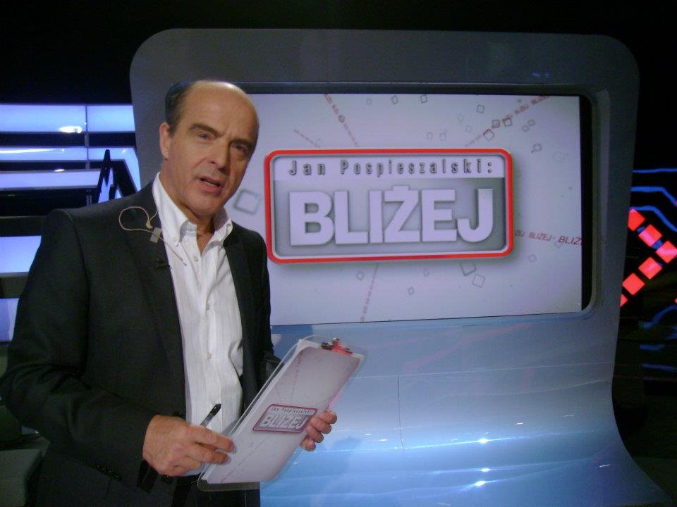 Jan Pospieszalski jest prowadzącym w programie ''Bliżej''