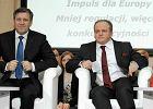 Janusz Piechoci�ski i Pawe� Kowal podczas debaty PSL i PJN