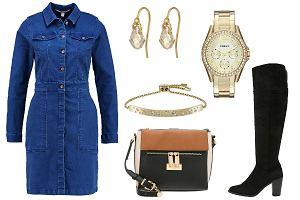 Sukienka jeansowa zimą - z czym ją łączyć