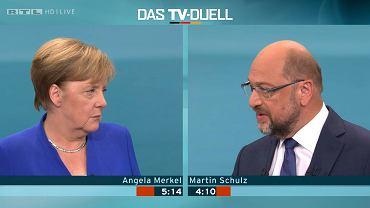 Debata przedwyborcza Merkel - Schulz