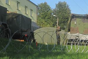 Tajemnicza baza wojskowa w centrum wsi. Przy granicy z Białorusią