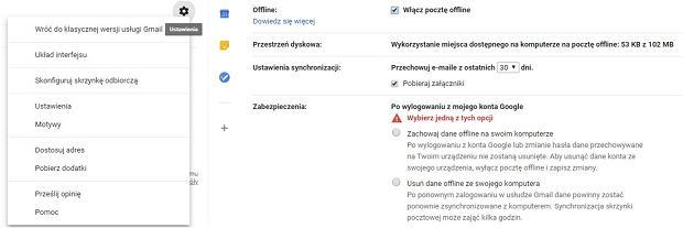 Nowy Gmail dostał funkcję Offline