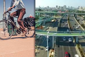 5 metrów nad ziemią, 2 tysiące rowerów na godzinę. W Chinach powstała najdłuższa na świecie podwieszana ścieżka rowerowa [WIDEO]