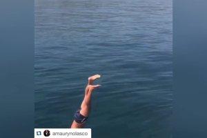 Eva Longoria na wakacjach w s�onecznej Hiszpanii. Pla�a, s�o�ce, jacht i... niebezpieczne skoki do wody.