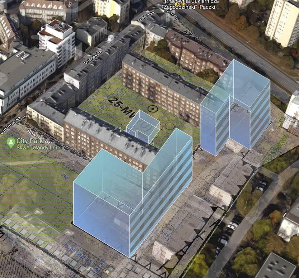 Projekt zabudowy Kolonii Wawelberga