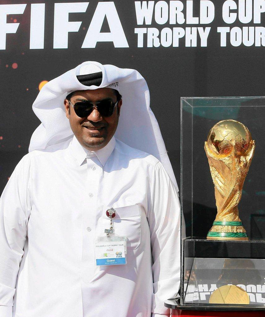 Puchar mistrzostw świata na wystawie w Dausze