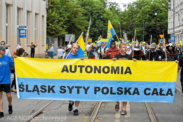Marsz Ruchu Autonomii Śląska w Katowicach w 2011 r.