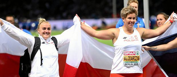 Joanna Fiodorow i Anita Włodarczyk - brązowa i złota medalistka ME w rzucie młotem. Dla Włodarczyk to czwarty z rzędu tytuł mistrzyni Europy
