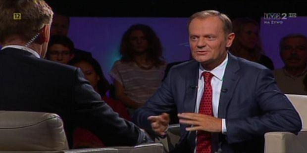 Donald Tusk w programie Tomasza Lisa
