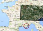 Katastrofa samolotu we Francji. Zdj�cie z miejsca katastrofy