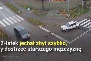 Tomaszów Lubelski: rozpędzone czerwone audi potrąciło pieszego na pasach. 68-latek nie miał szans na ucieczkę