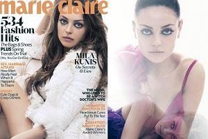 """Mila Kunis na okładce brytyjskiego """"Marie Claire"""" hipnotyzuje spojrzeniem [ZDJĘCIA]"""