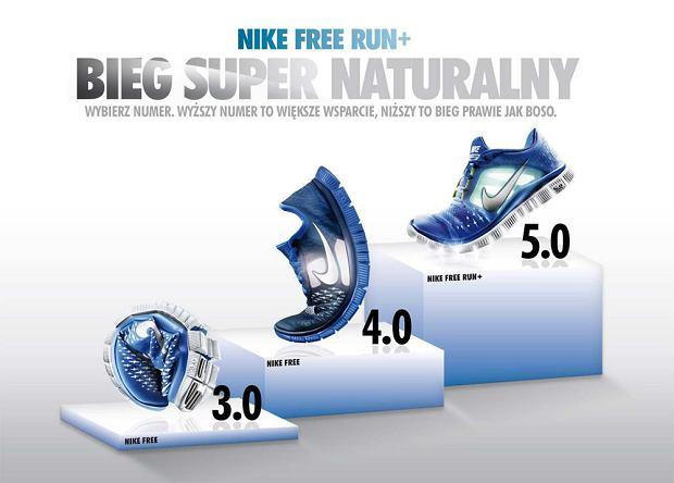 Kolekcja butów naturalnych Nike Free