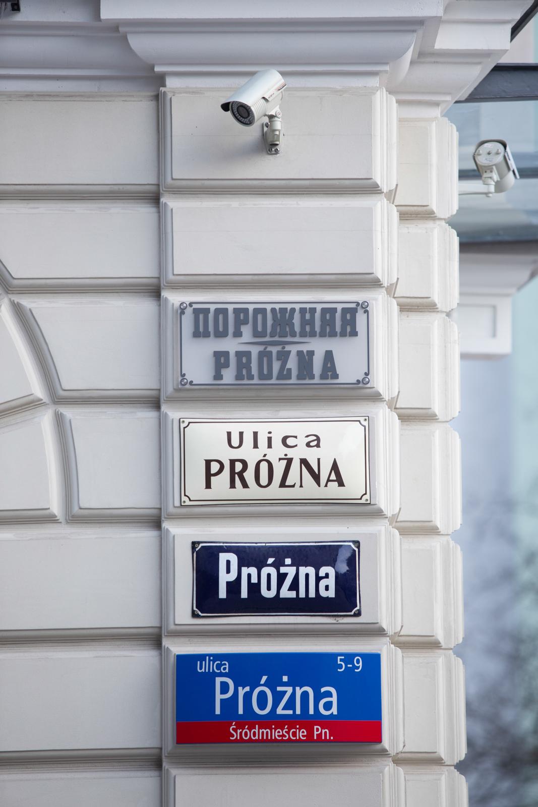 Tablice na Próżnej (fot. Luka Łukasiak)