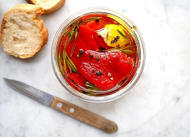 Papryka w ziołowej oliwie