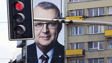 Billboard Kazimierza M. Ujazdowskiego przy pl. Grunwaldzkim we Wrocławiu