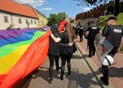 Kontrmanifestacja narodowców w dniu Marszu Równości
