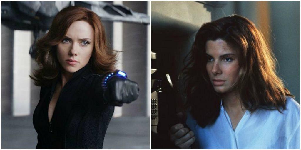 Scarlett Johansson i Sandra Bullock / mat, promocyjne wytwórni Marvel, kadr z filmu 'System'
