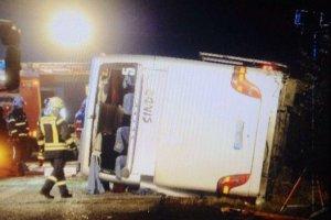 Wypadek polskiego autokaru w Niemczech. 11 os�b ci�ko rannych, jedna w stanie krytycznym