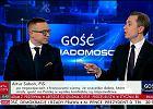 """""""Ja dzisiaj przyglądałem się polskiemu niebu i nie widziałem śmigłowców"""". Spięcie w TVP Info"""