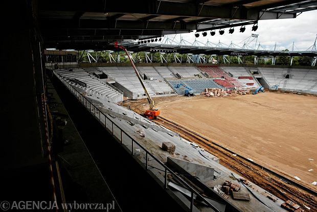 Zdjęcie numer 20 w galerii - Budowa stadionu Widzewa. Widać już napis