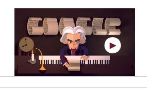 Ludwig van Beethoven - bohater dzisiejszego GOOGLE DOODLE. Zagraj w grę i pomóż Beethovenowi ułożyć nuty!