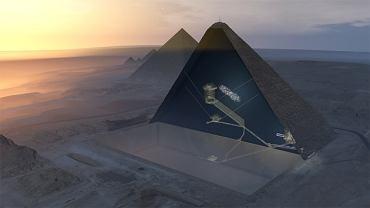 Piramida Cheopsa. Wizualizacja 3D
