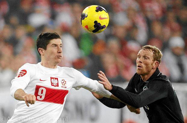 Robert Lewandowski w meczu reprezentacji Polski z Irlandi�