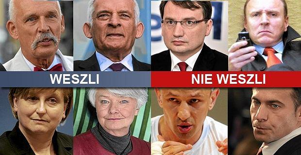 Oni b�d� nas reprezentowa� w europarlamencie. 51 nazwisk [WESZLI, NIE WESZLI]