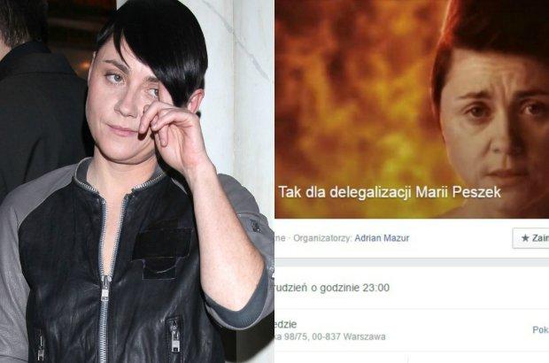 """Maria Peszek w swojej nowej piosence porównuje palenie tęczy i internetowy """"hejt"""" do Holokaustu. W odpowiedzi internauci zakładają na Facebooku grupę """"Tak dla delegalizacji Marii Peszek"""", gdzie sypią się mocno nieprzychylne komentarze pod jej adresem."""