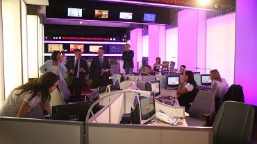 Newsroom w siedzibie TVP Info