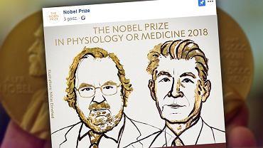 James P. Allison i Tasuku Honjo to tegoroczni laureaci Nagrody Nobla w dziedzinie 'Medycyna lub fizjologia'