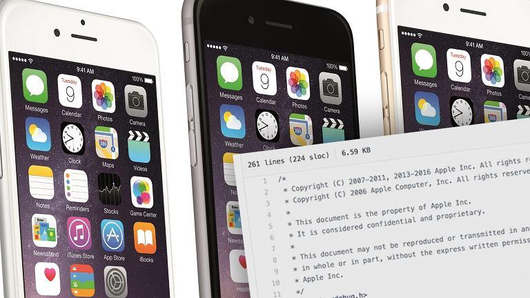 Część systemu iOS wyciekła do sieci
