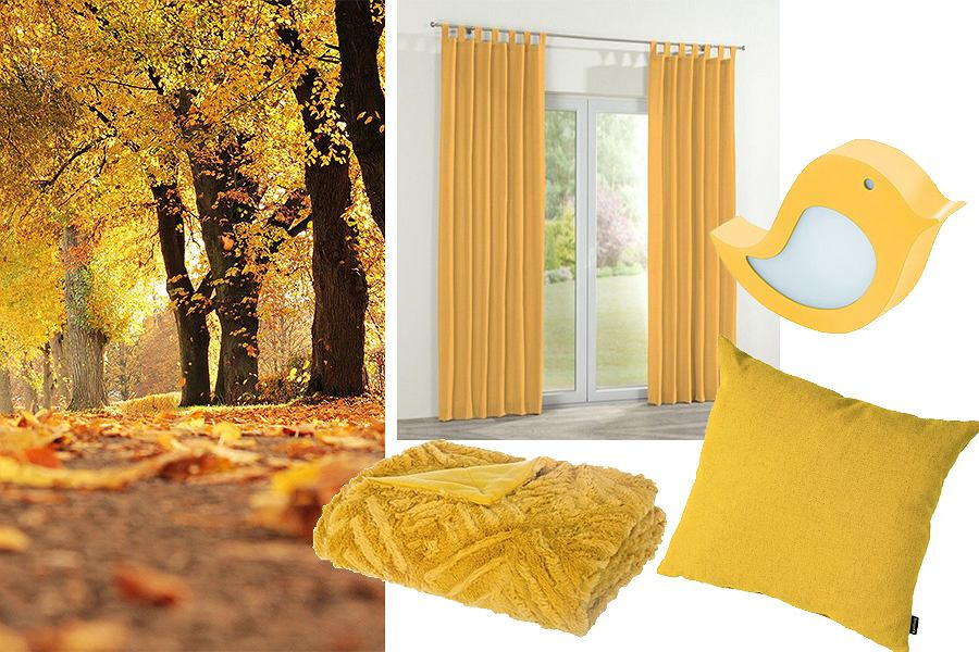 Żółte dodatki do mieszkania