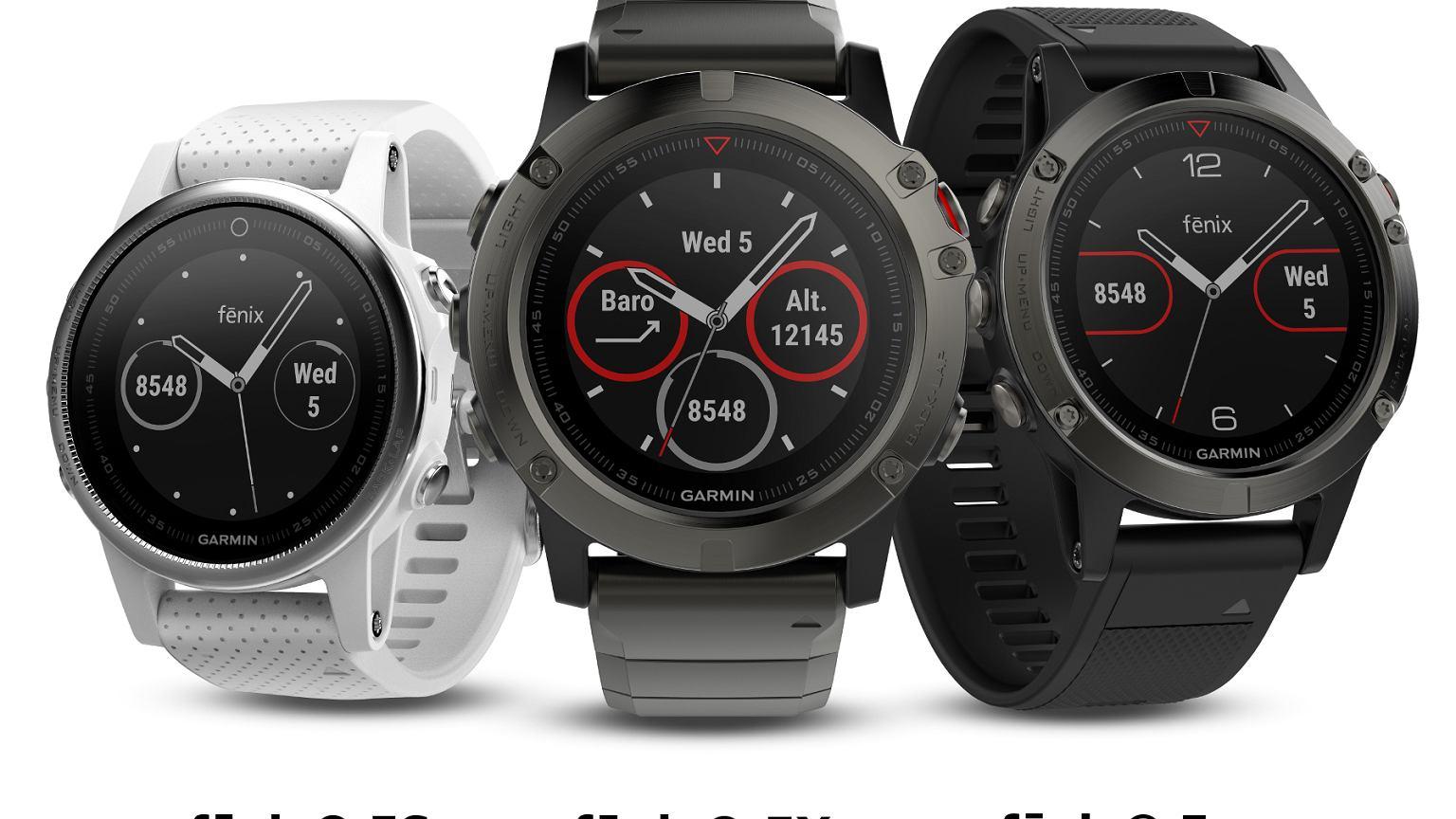 bf657f21f04c4 Garmin fenix 5 - multisportowe zegarki GPS dla sportowców i poszukiwaczy  przygód