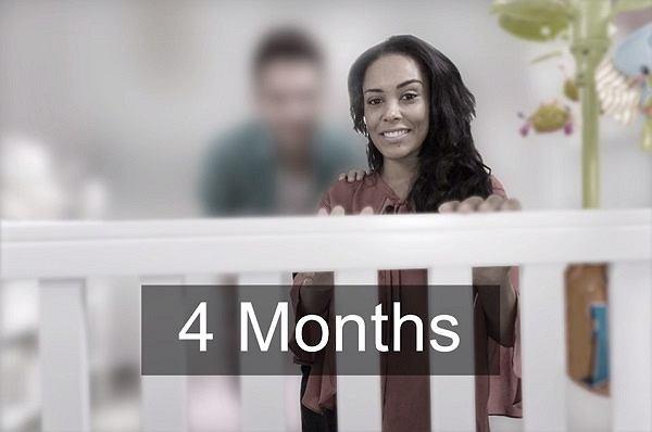 Tyle widzi dziecko w czwartym miesiącu życia