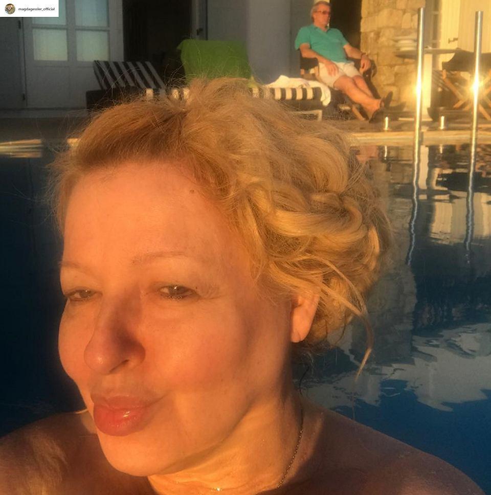 Magda Gessler Bez Makijażu Nad Basenem Jak Wygląda Fani Podzieleni