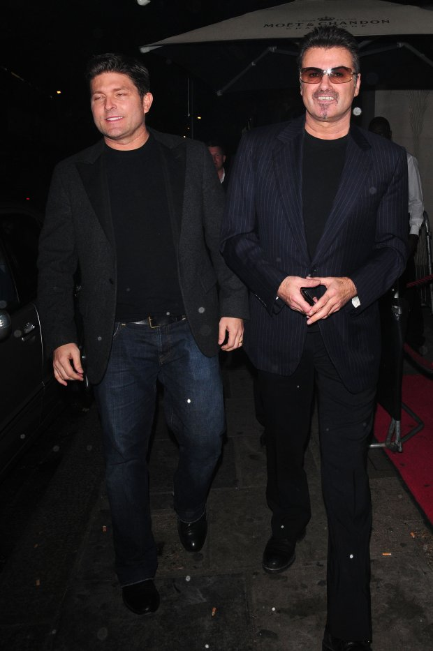 Kenny Goss and George Michael at Nobu Berkeley restaurant London, England - 15.10.2009 Credit: ZT-Images