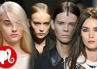 Pomys�y na fryzur� z przedzia�kiem - Alexander Wang, Carolina Herrera, Herve Leger