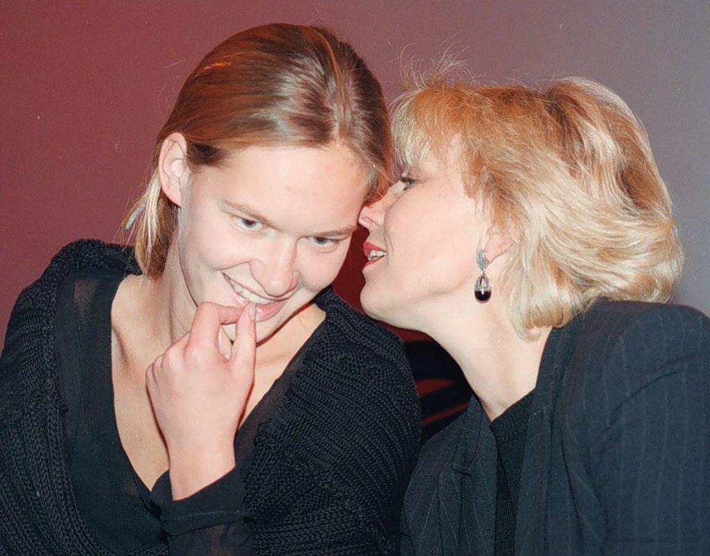 Maria Seweryn i Krystyna Janda w 1996 r. (fot. Krzysztof Miller / Agencja Gazeta)